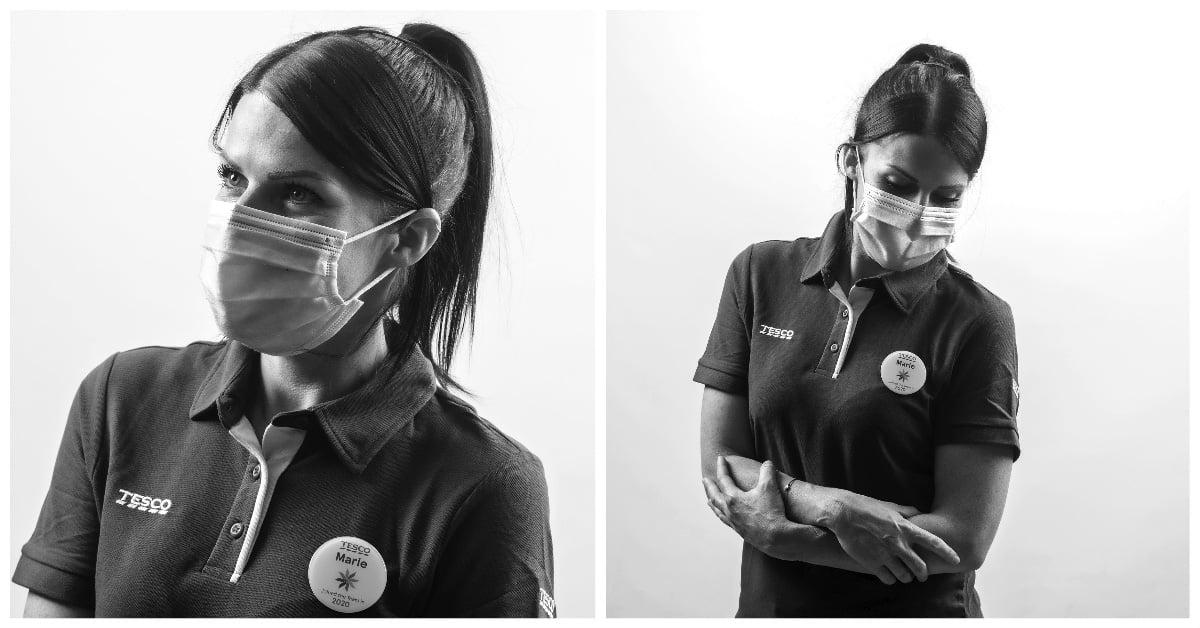 studio portrait collage of nhs worker