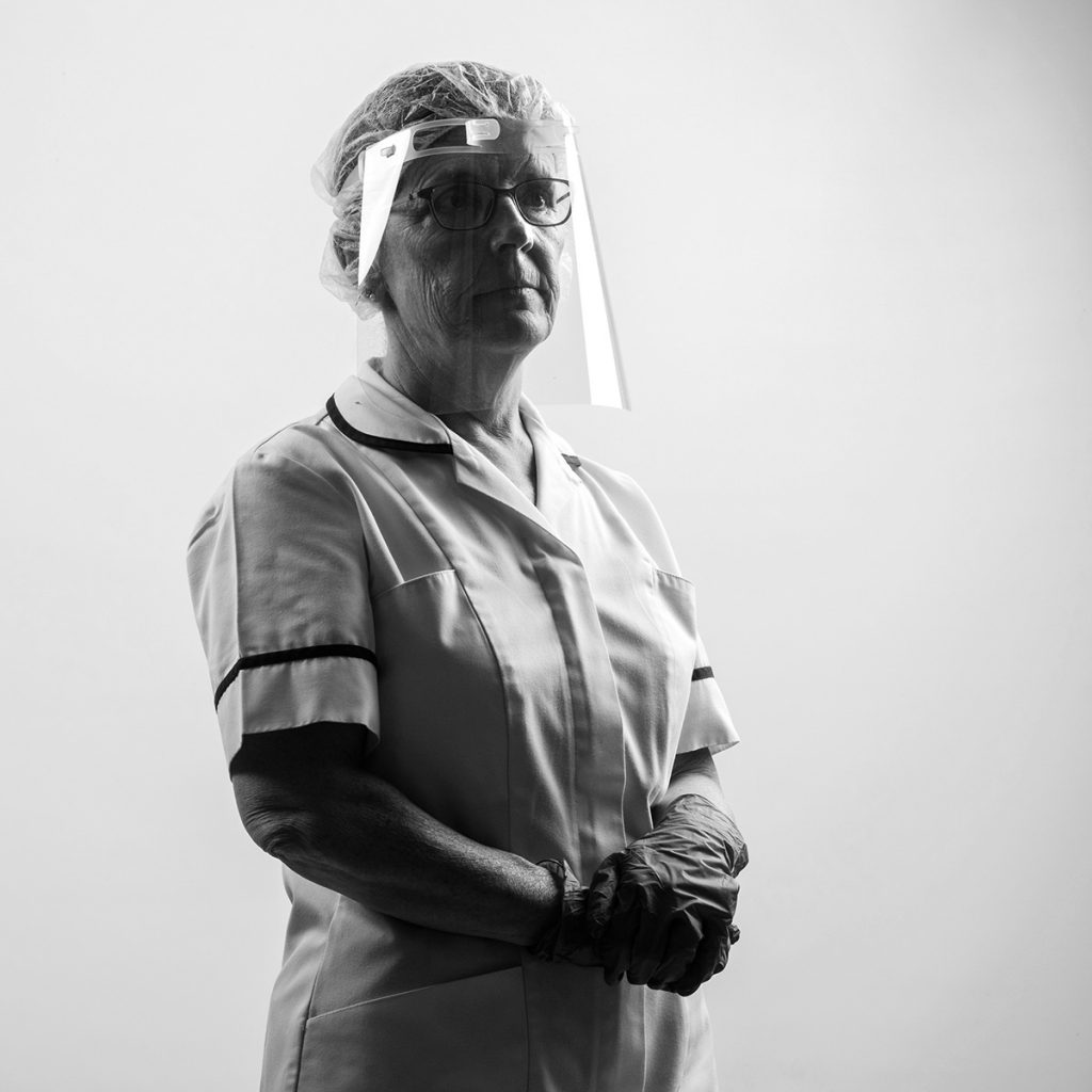 health worker wearing Protective gear in studio