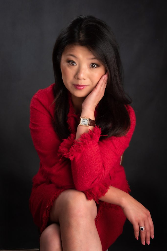 chinese business lady in red